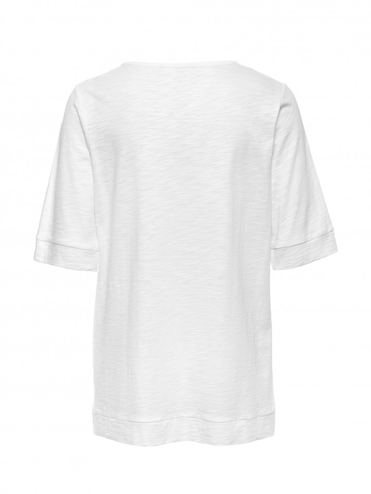 White Relaxed Pocket Tee