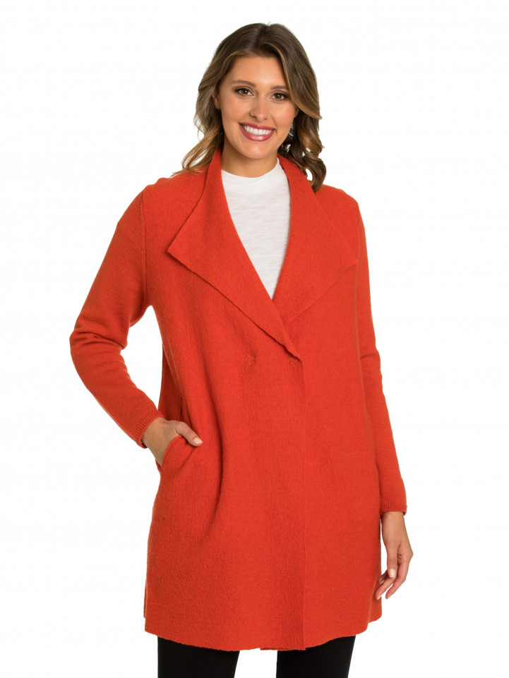 Paprika Boiled Wool Coat