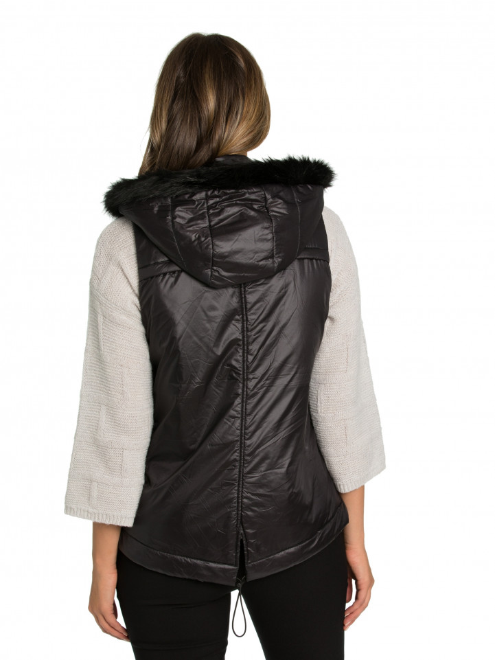 Black Quilted Puffer Vest