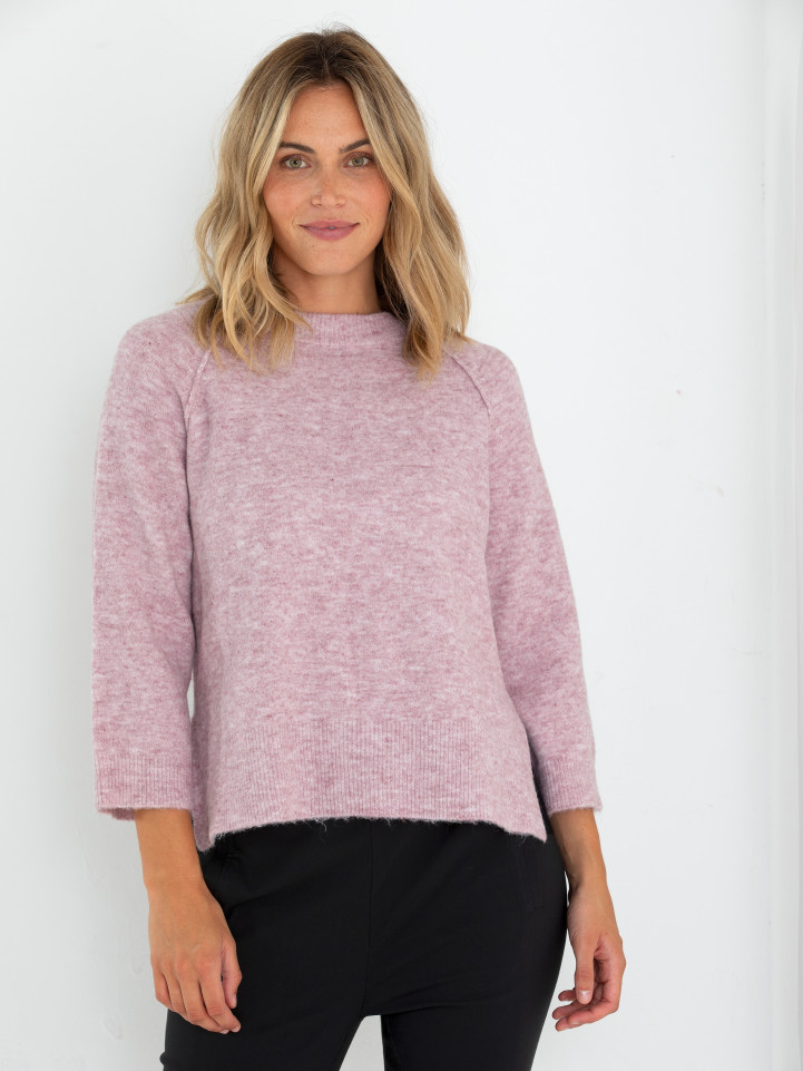 3/4 Relaxed Knit Sweater