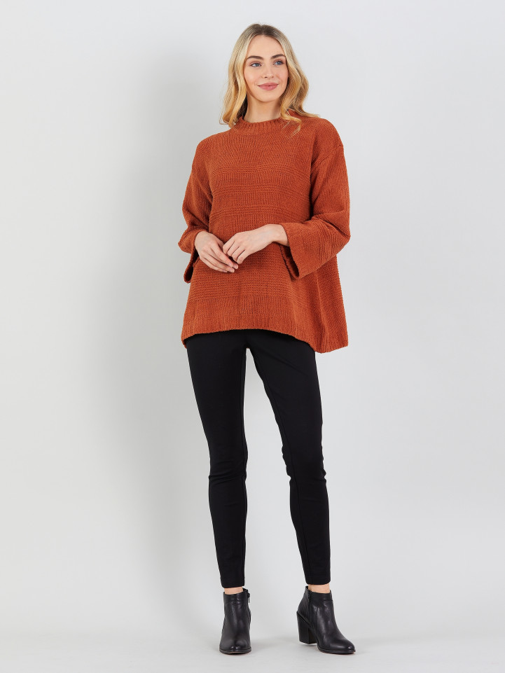 Chenille Rib Knit Sweater