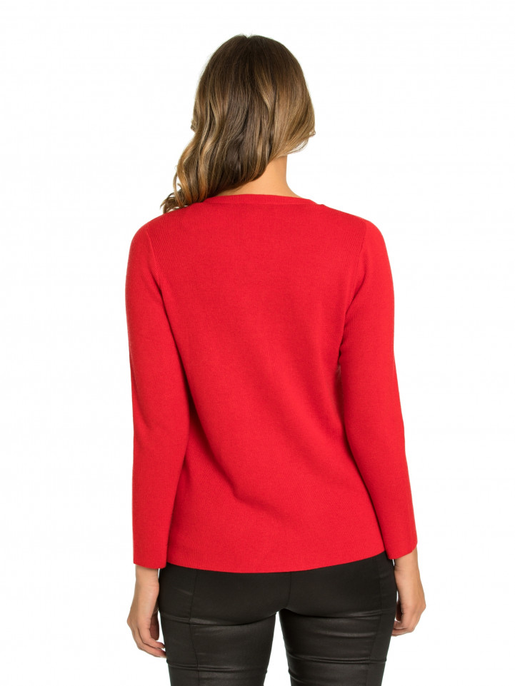 Scarlet Button Up Sweater