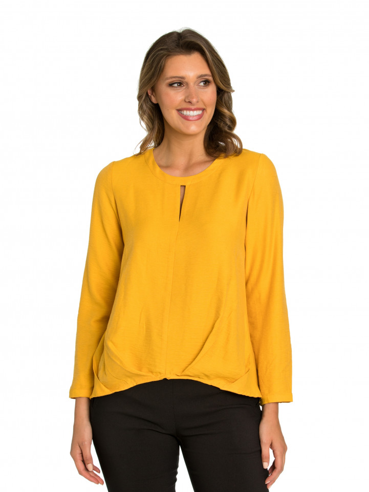 Tuck Front Blouse