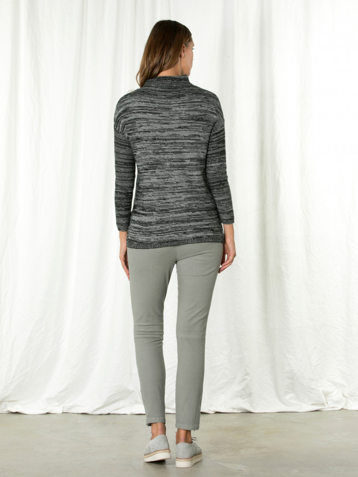 L/s High Nk Cable Sweater