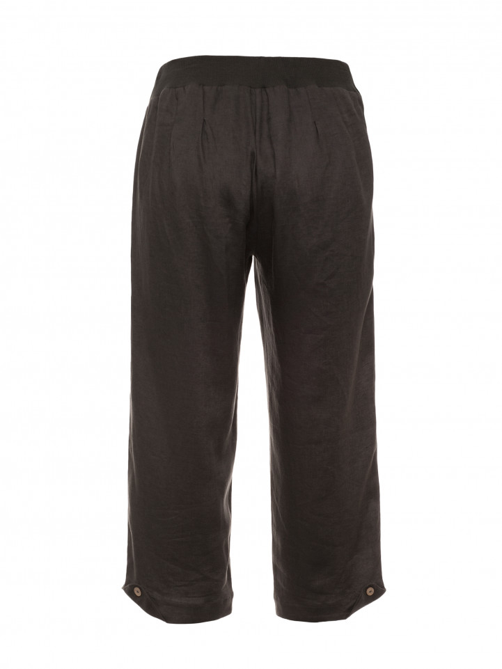 Gravel Cropped Linen Pant