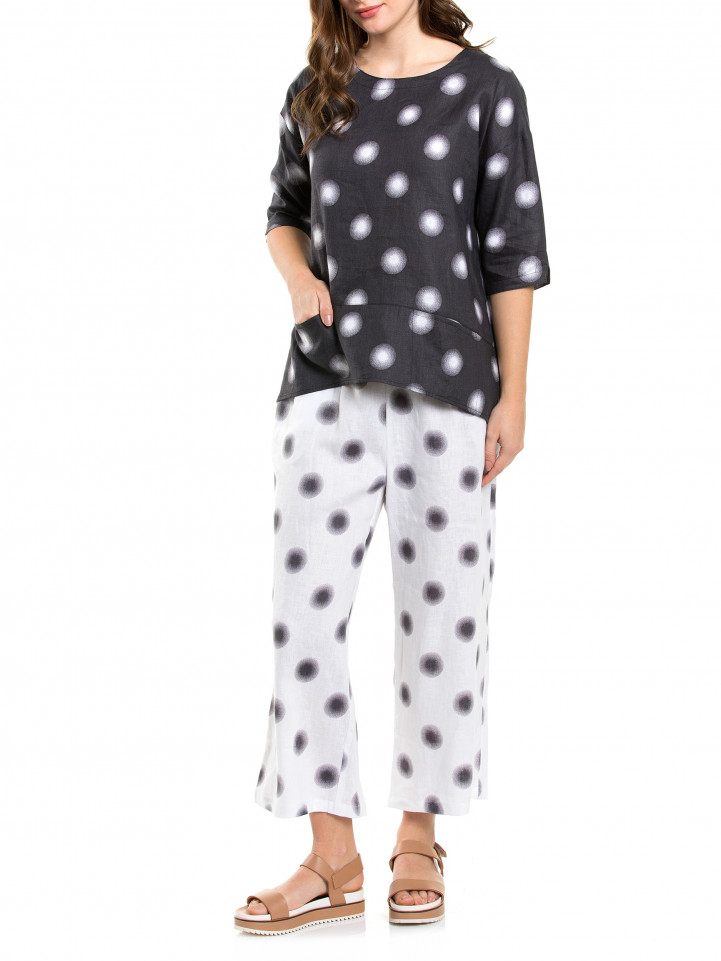 Elbow Printed Spot Top