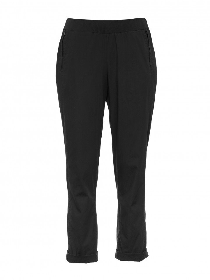 Black 3/4 Relaxed Cotton Pant