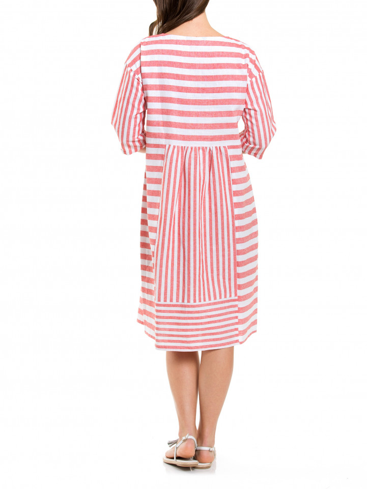 Elbow Nautical Stripe Dress