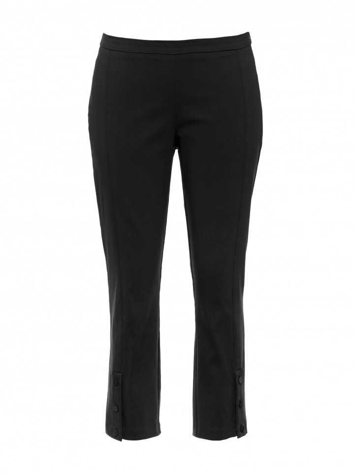 Black 3/4 Button Pant