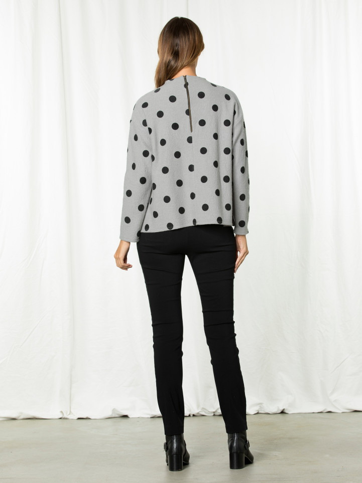 L/s Boxy Spot Sweater