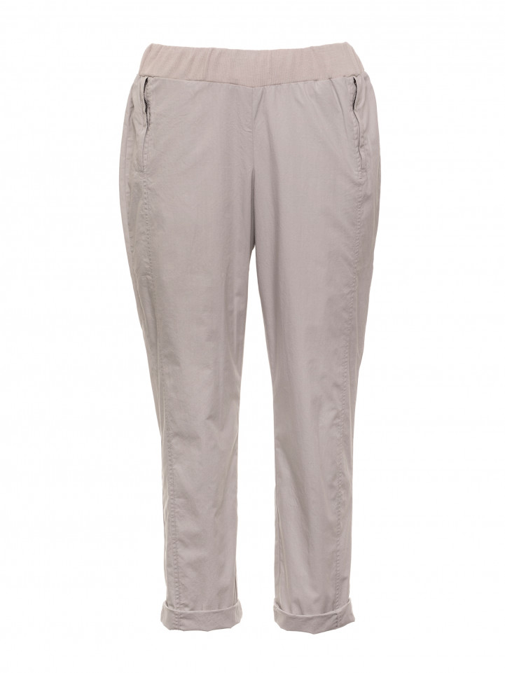 Grey Mist 3/4 Relaxed Cotton Pant