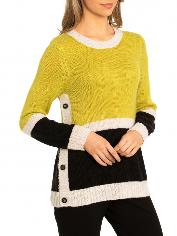 Button Panel Sweater