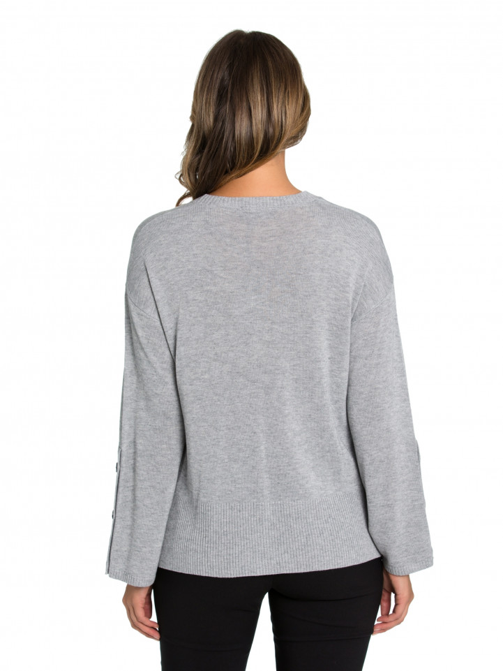 Ash Button Sleeve Sweater