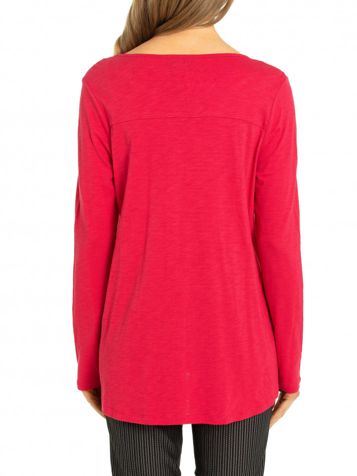 L/s Side Snap Tee