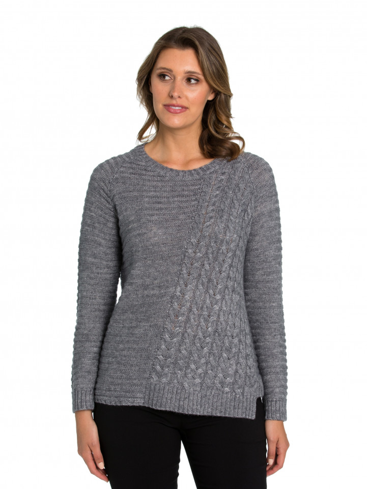 Spliced Cable Sweater