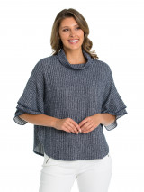 Elbow Ribbed Cape Tee