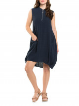 Cap Slv Textured Dress