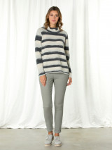 L/s Mixed Stripe Sweater