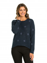 Cropped Spot Sweater