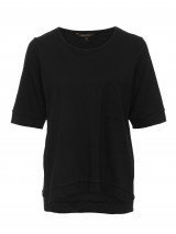Black Relaxed Pocket Tee
