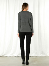 L/s Seamed Button Tee