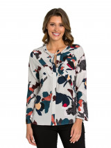 Freedom Floral Frill Neck Shirt