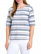 Elbow Sea-stripe Tee