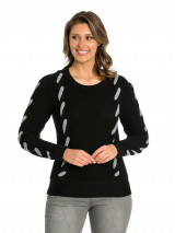 Cable Trim Sweater