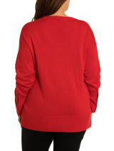 Button Sleeve Sweater - Plus Size