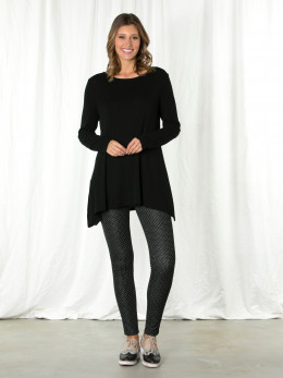 Black Relaxed Tunic