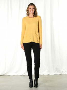 Honeycomb Pocket Front Sweater