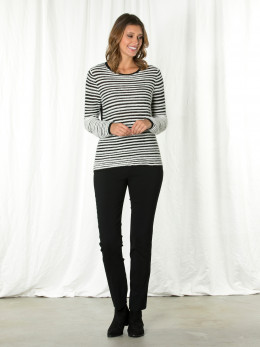 Spliced Textured Sweater