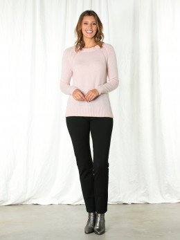 Peony Pink Panel Detail Sweater