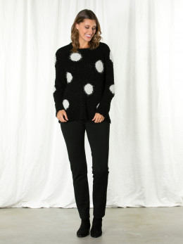 L/s Fluffy Spot Sweater