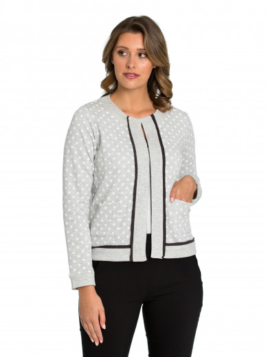 Long Sleeve Spot Jersey Cardigan