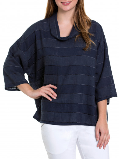 3/4 Slv Retreat Stripe Top