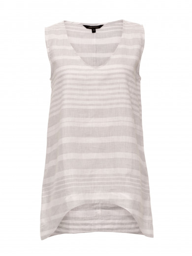 Grey Mist V-neck Stripe Tank