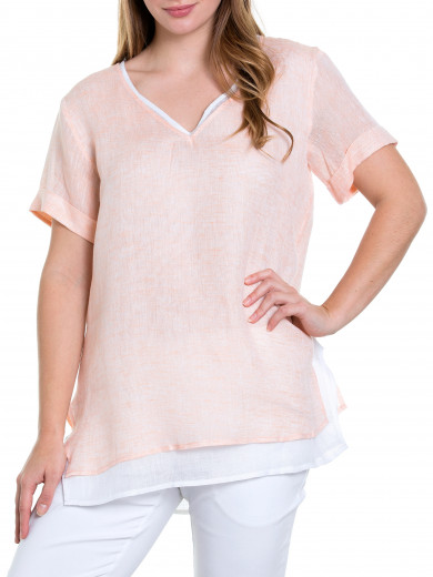 S/s Gauzy Layered Top