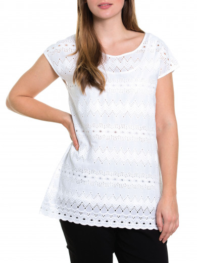 S/s Embroidered Tunic