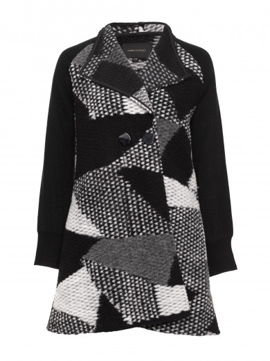 Black Pattern Coat