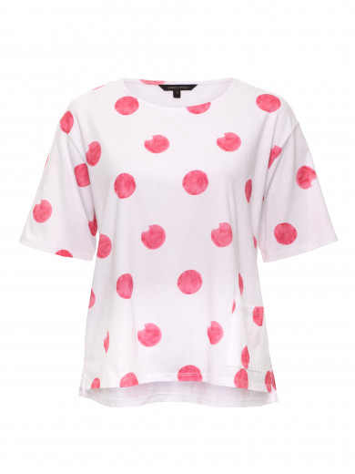Watermelon Cropped Blotch Tee