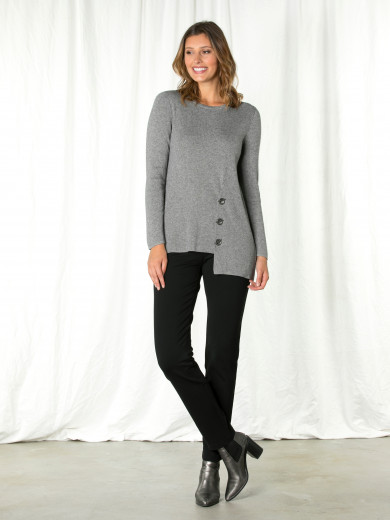 Light Grey Eyelet Sweater