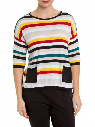 Elbow Mixed Stripe Tee