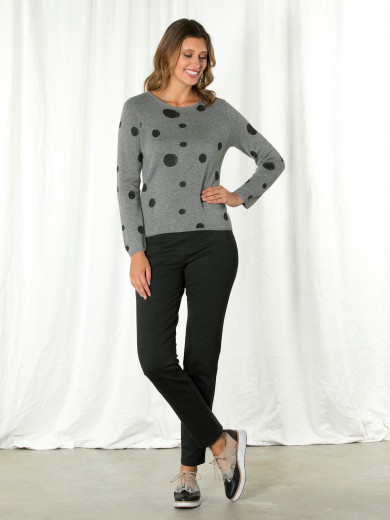 Grey Spot Sweater