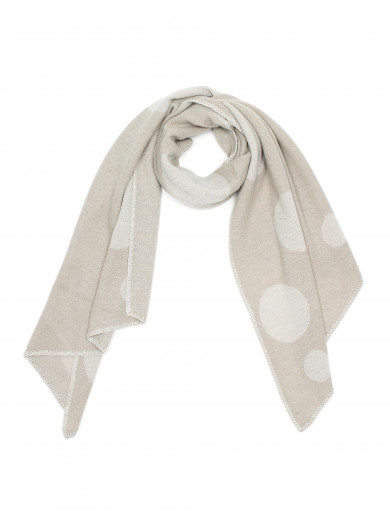 Oatmeal Mix Spot Me Wrap Scarf