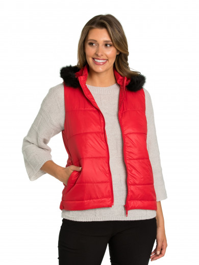 Scarlet Quilted Puffer Vest