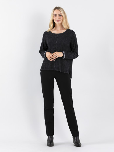 Relaxed Panel Sweater