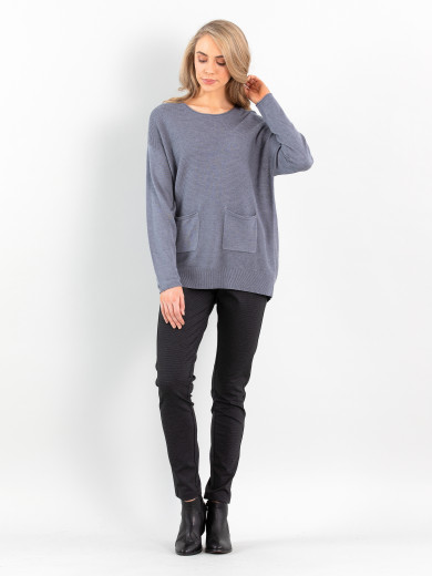 Rib Pocket Sweater