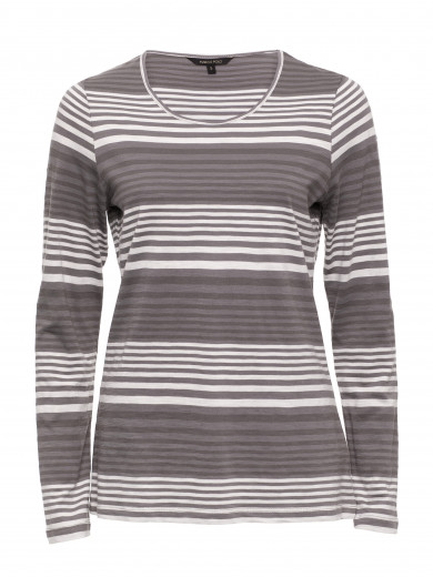 Husk Stripe Scoop Neck Tee