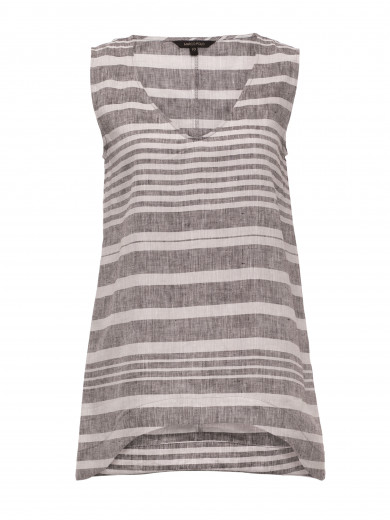 Pebble V-neck Stripe Tank